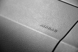Close-up on airbag on dashboard